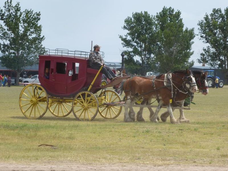 Stage coach with horses