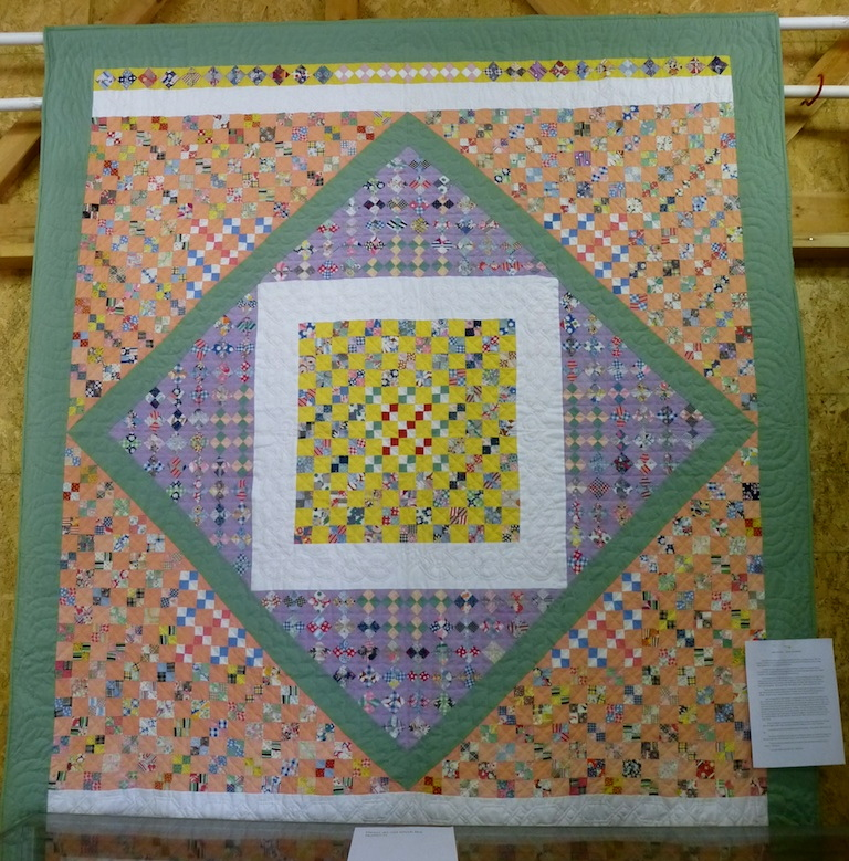 Square in a square antique quilt