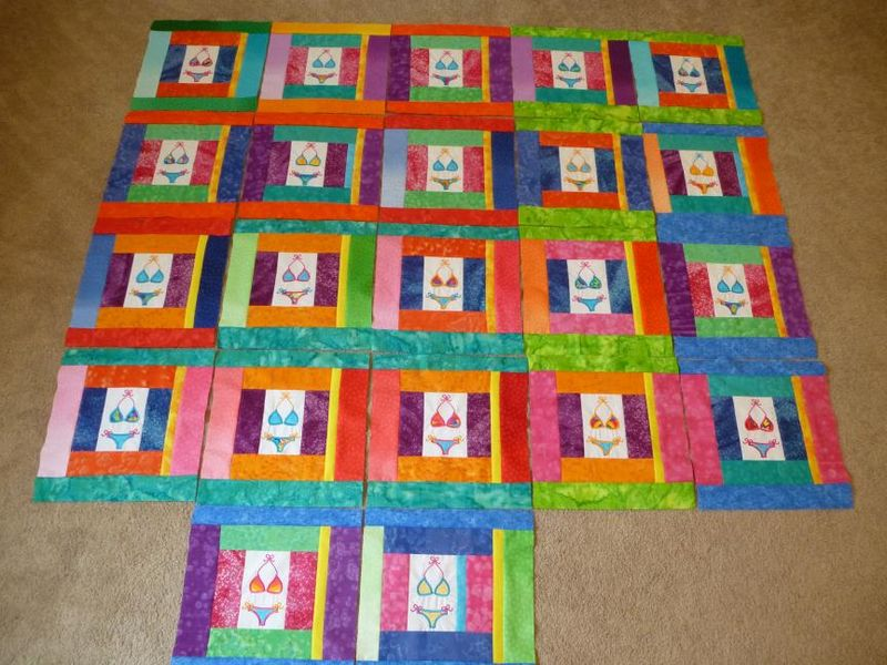 22 bikini applique summer blocks