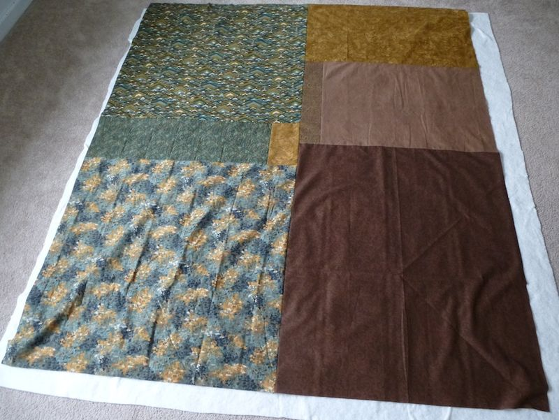 Backing for Green Brown flimsy
