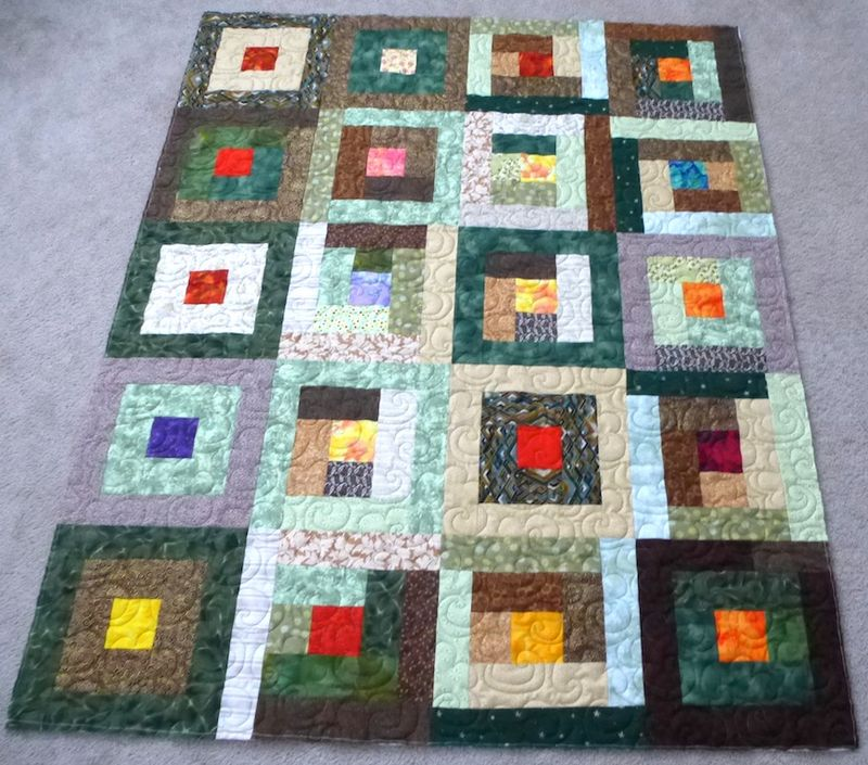 Green Brown Charity Quilt