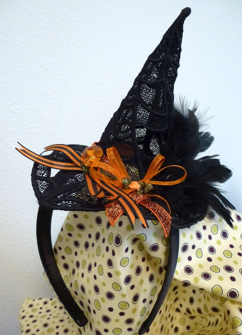 Halloween Lace Witch Hat