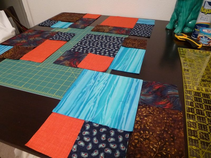 Take 5 quilt pieces