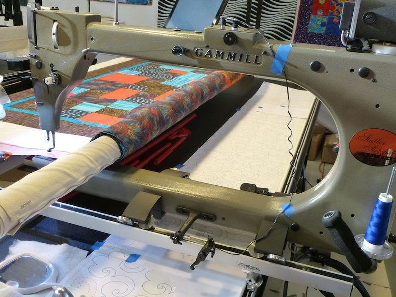 Nephew D quilt on Gammill longarm machine