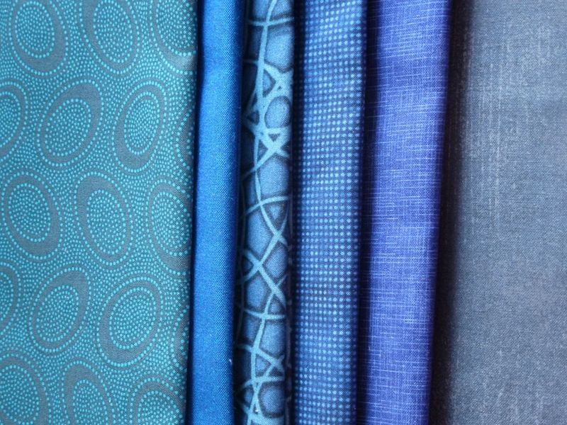 Blue fabrics from Pink Chalk Fabrics