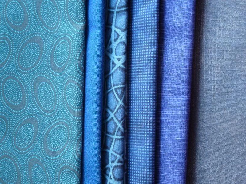 Blue fabrics from Pink Chalk Fabrics