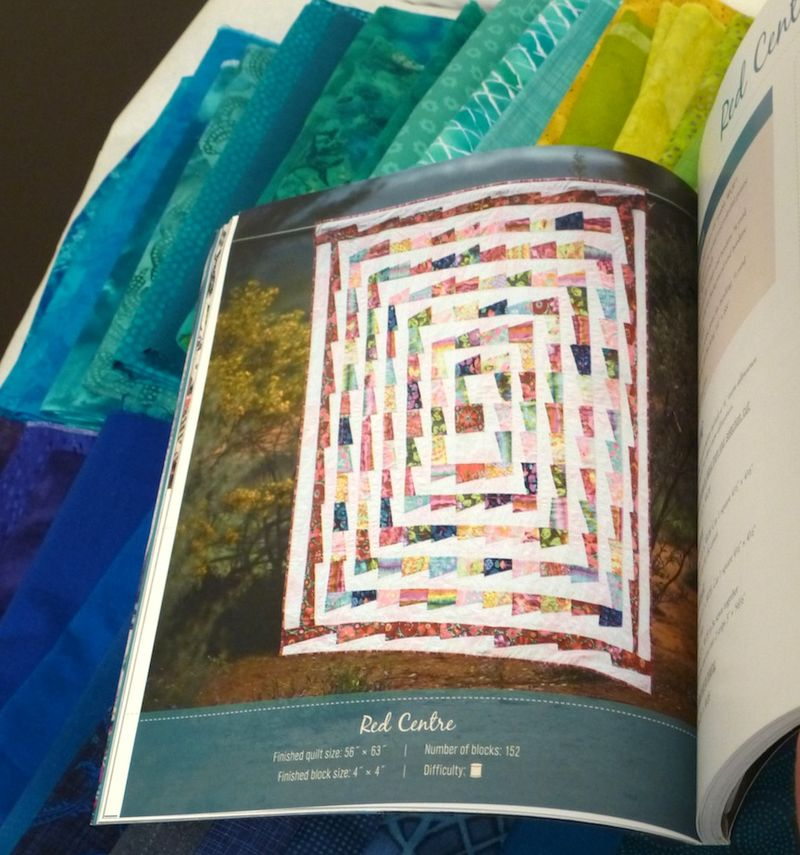 Red Centre quilt in Kathy Doughty book