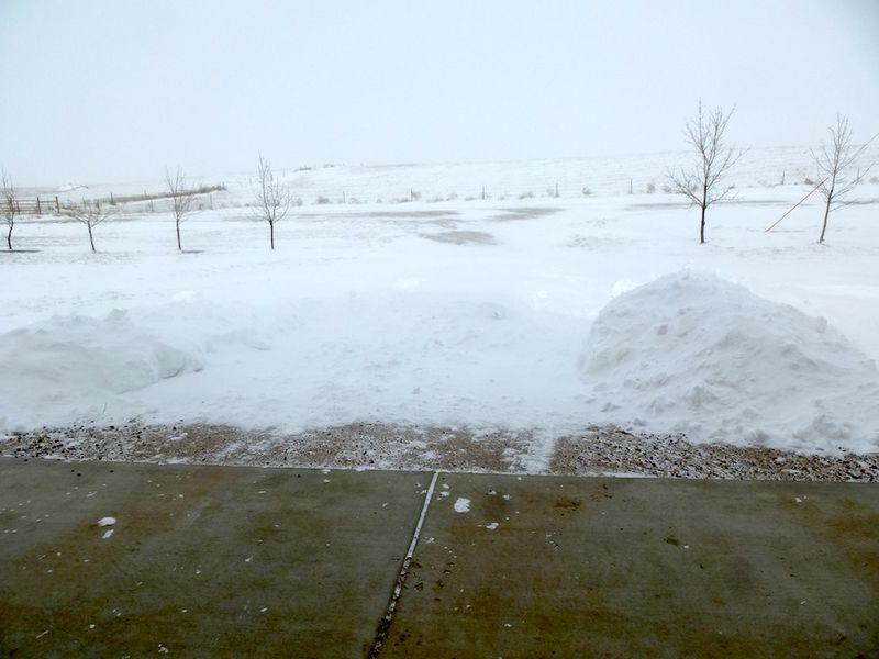 Snow Drift in Driveway December 2013