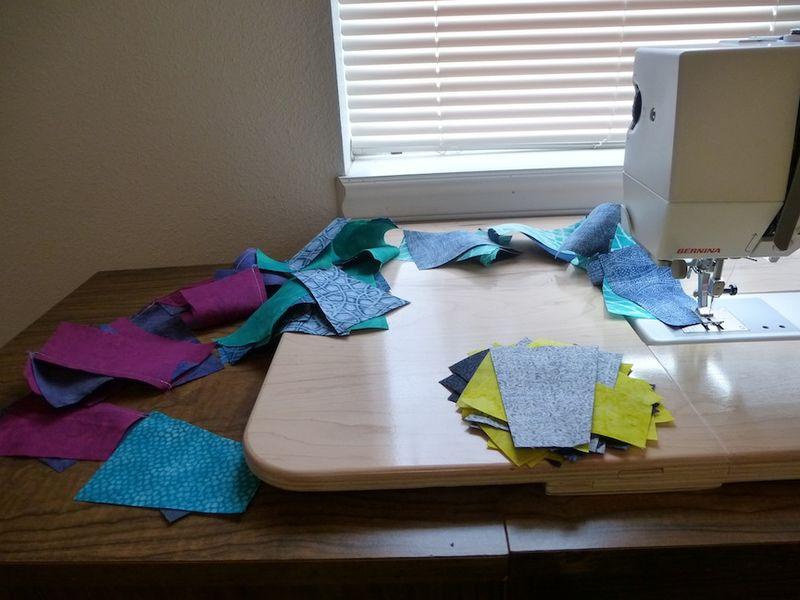 Chain Piecing Fractured Quilt