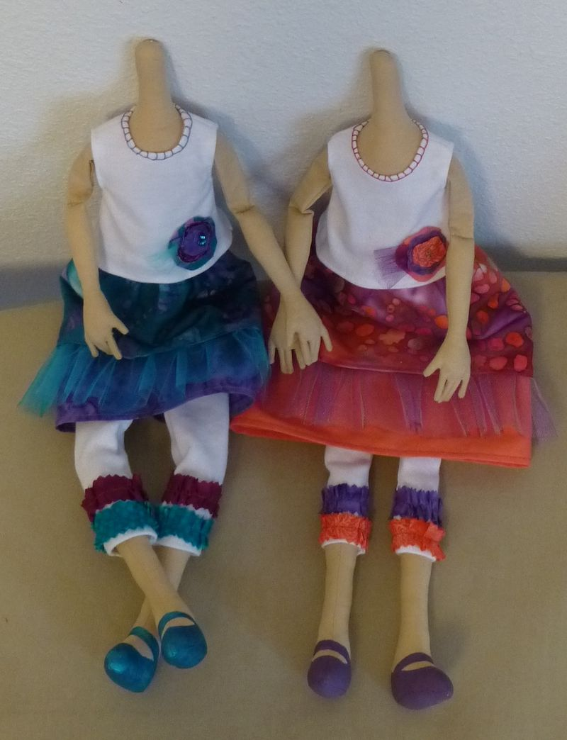 Doll Progress skirt top and shoes