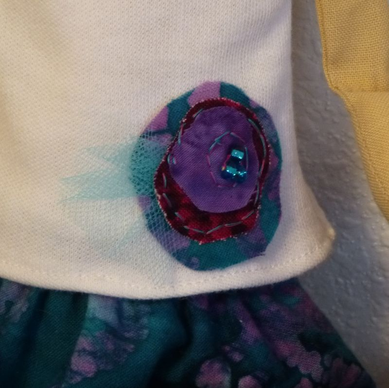 Detail of shirt embellishment