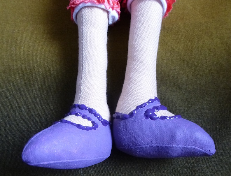 Purple Doll Shoes closeup