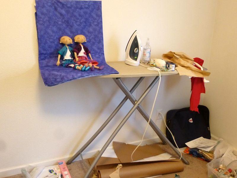 Messy ironing board