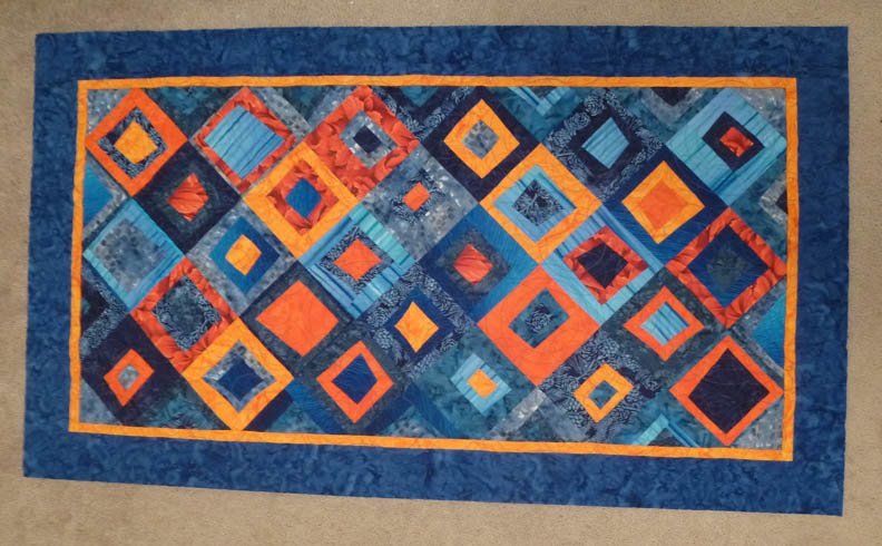 Blue Orange Quilt