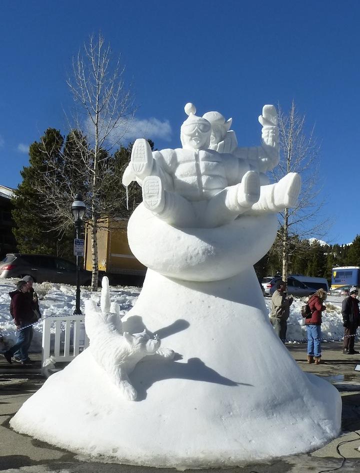 Winter Fun snow sculpture 2014