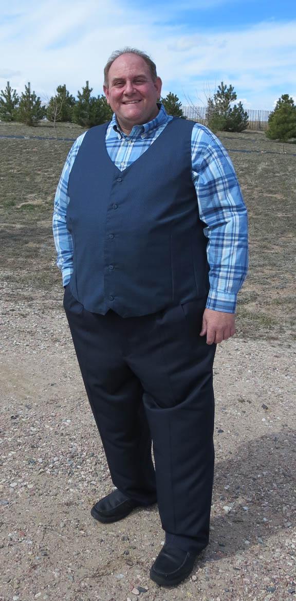 Steve in his new vest