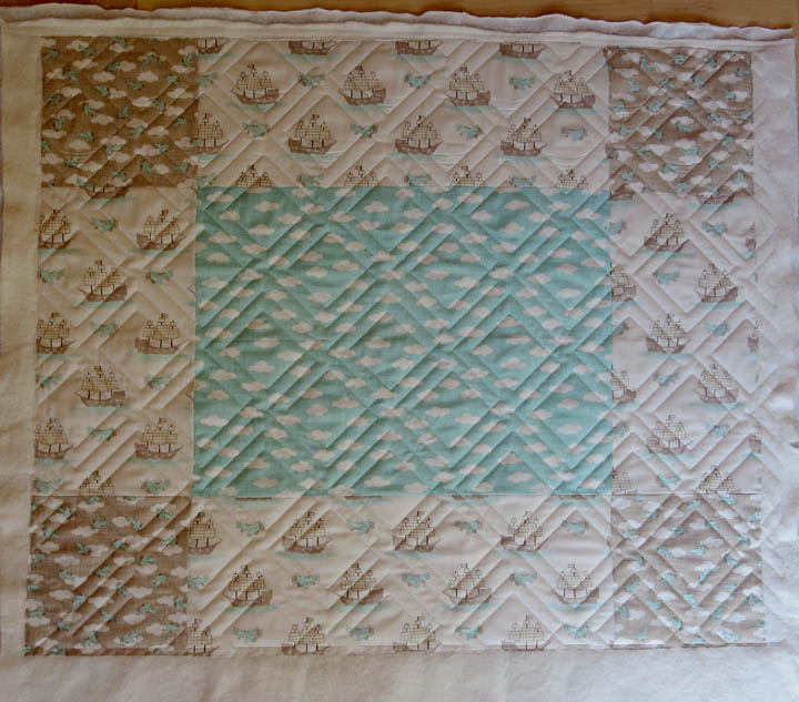 Diagonal Plaid panto baby quilt