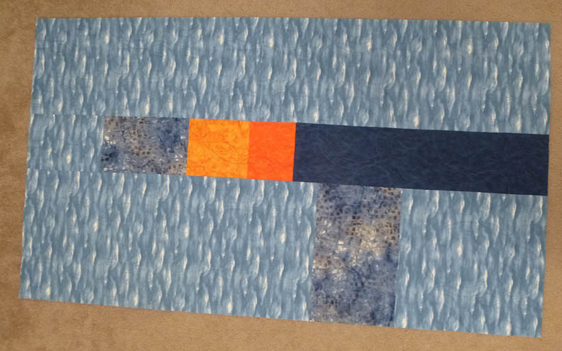 Blue Orange Quilt Back