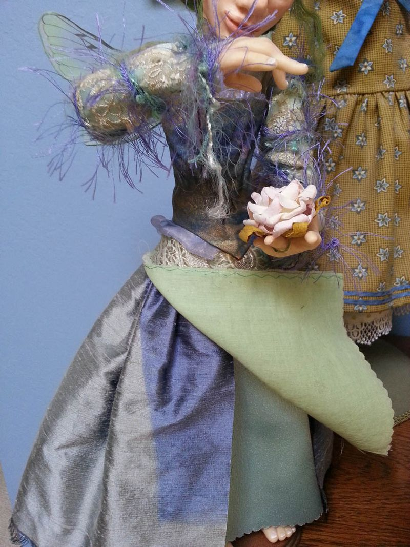 Fairy doll with sun faded skirt