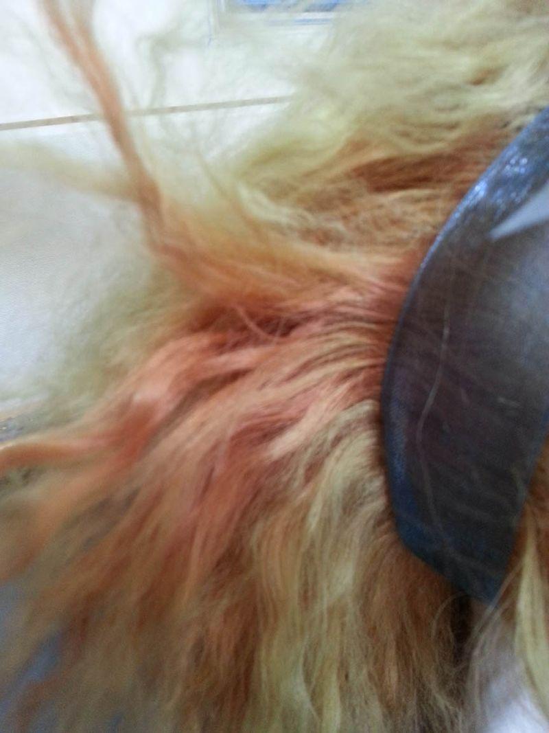 Sun faded doll wig