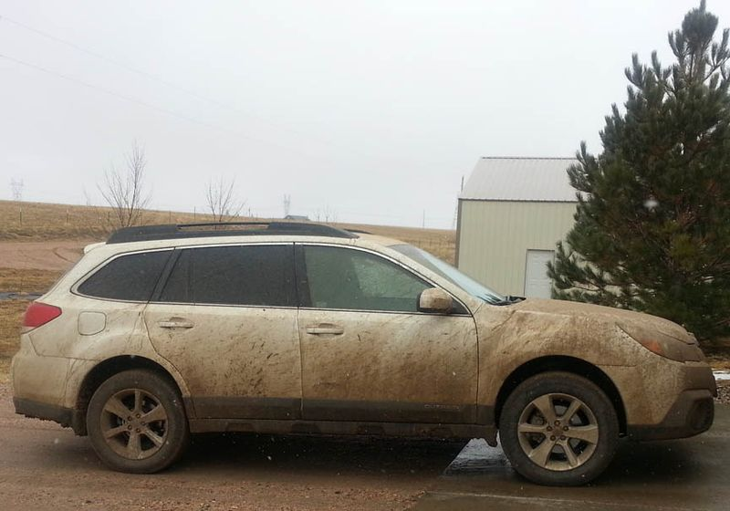 Muddy Subaru