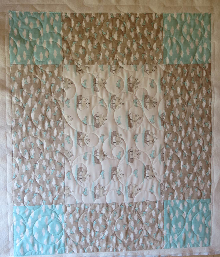Supersized nine patch baby quilt