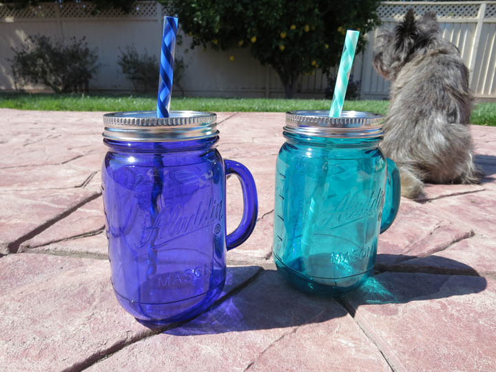 Plastic mason jar cups for summer