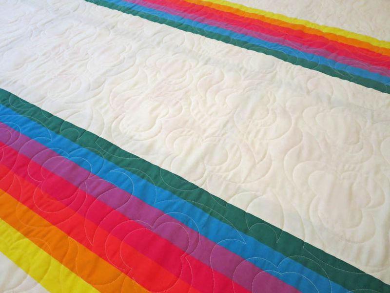 CHQ Charity quilt rainbow sheet detail