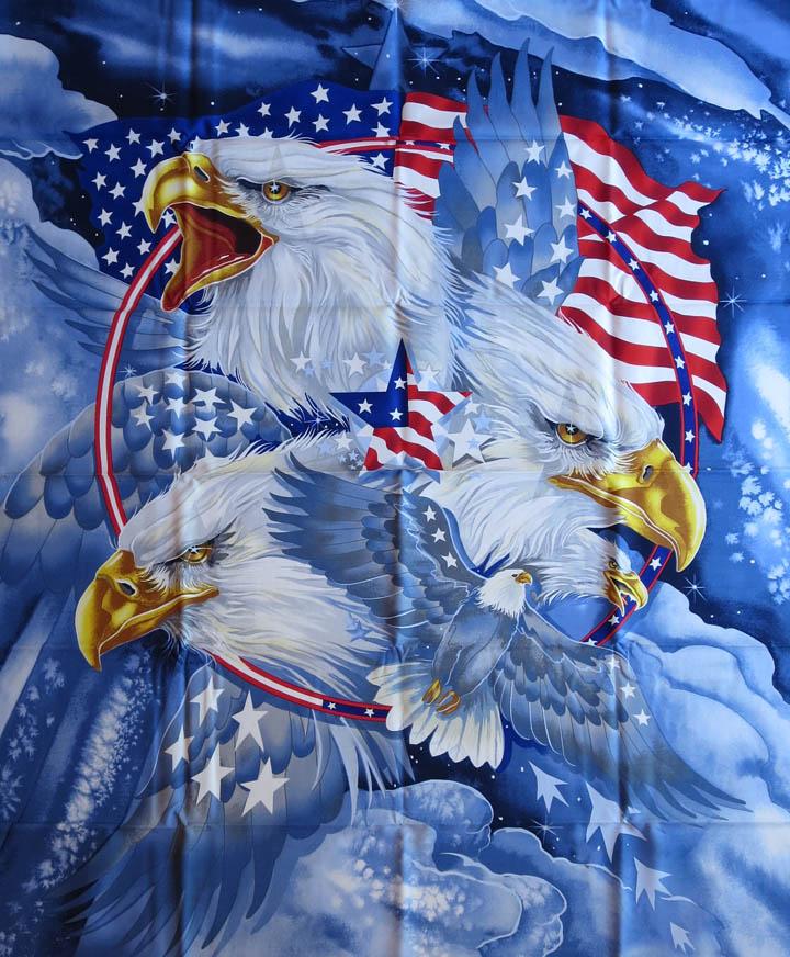 Patriotic Eagle Quilt Panel