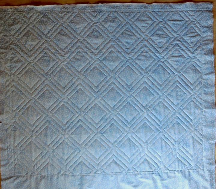 Diagonal Plaid panto baby quilt back