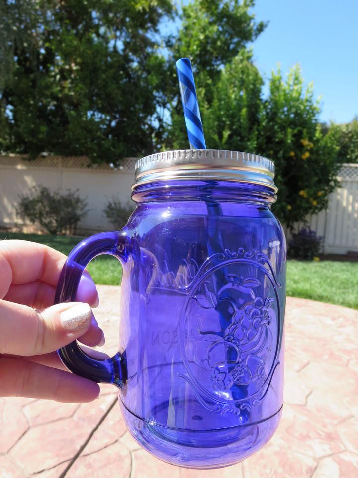 Plastic mason jar cup