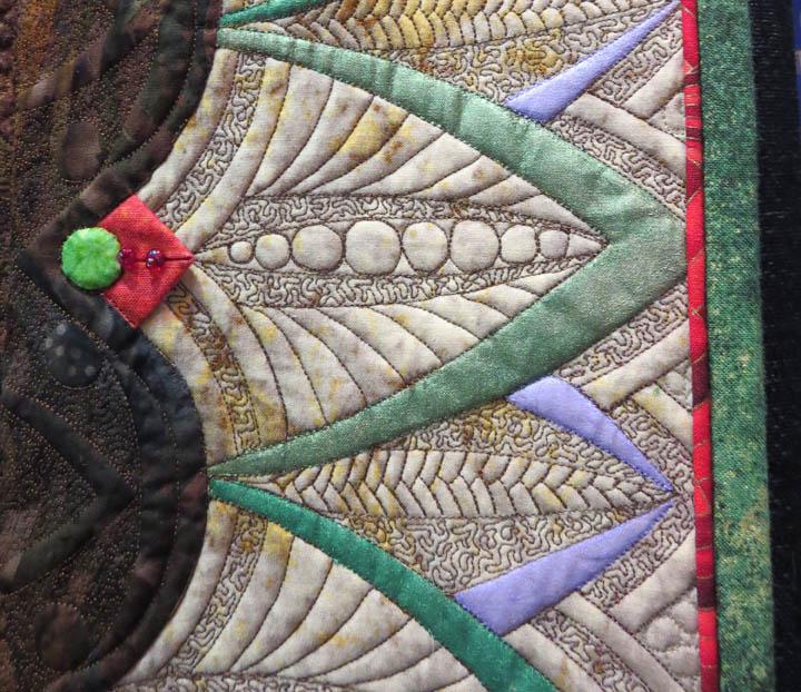 Exuberance by Marilyn Badger detail of micro stippling