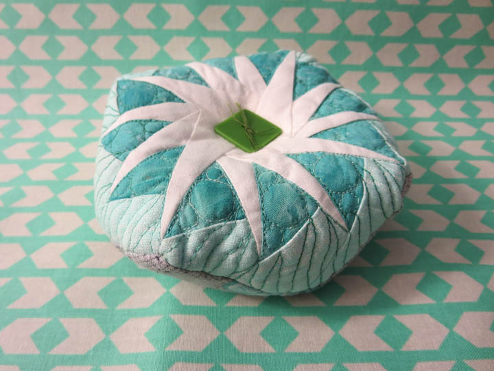 Top of flying geese pincushion