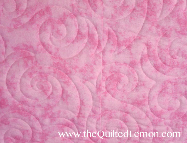 1Pink Charity quilt back detail Vanilla Cream panto copy
