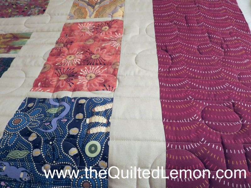 Julies Australian quilt top and border