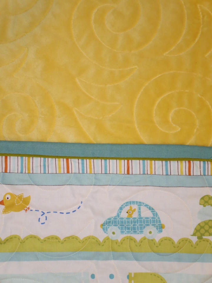 Baby Panel Quilt back and binding