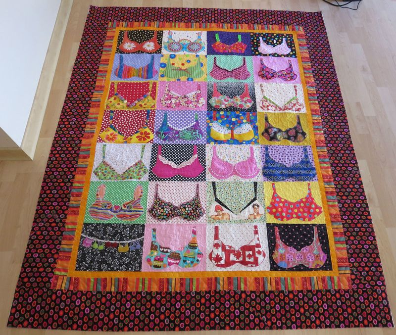 Bra Quilt quilted front