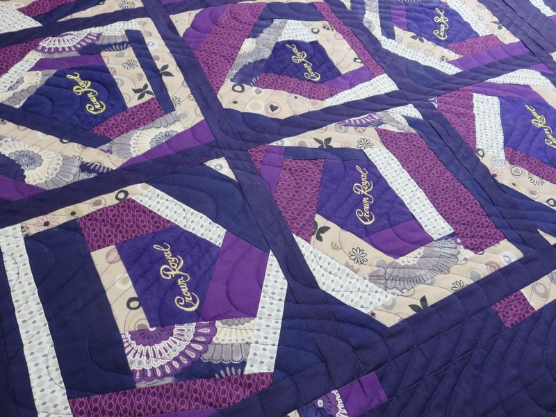Crown Royal Quilt front detail