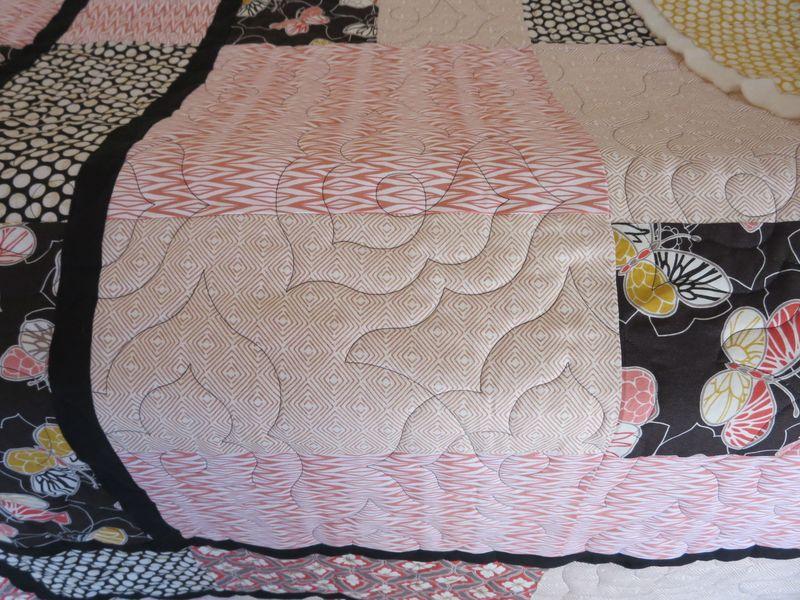Emperors Garden quilt front detail