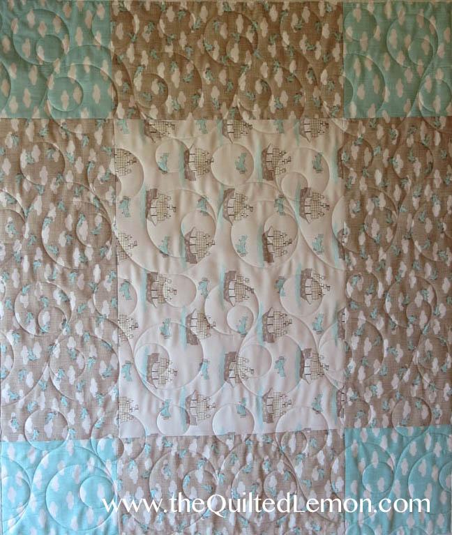 Double Bubble pantograph baby quilt