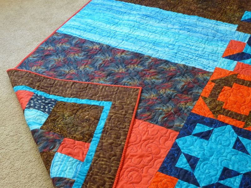 Take 5 quilt with binding finished