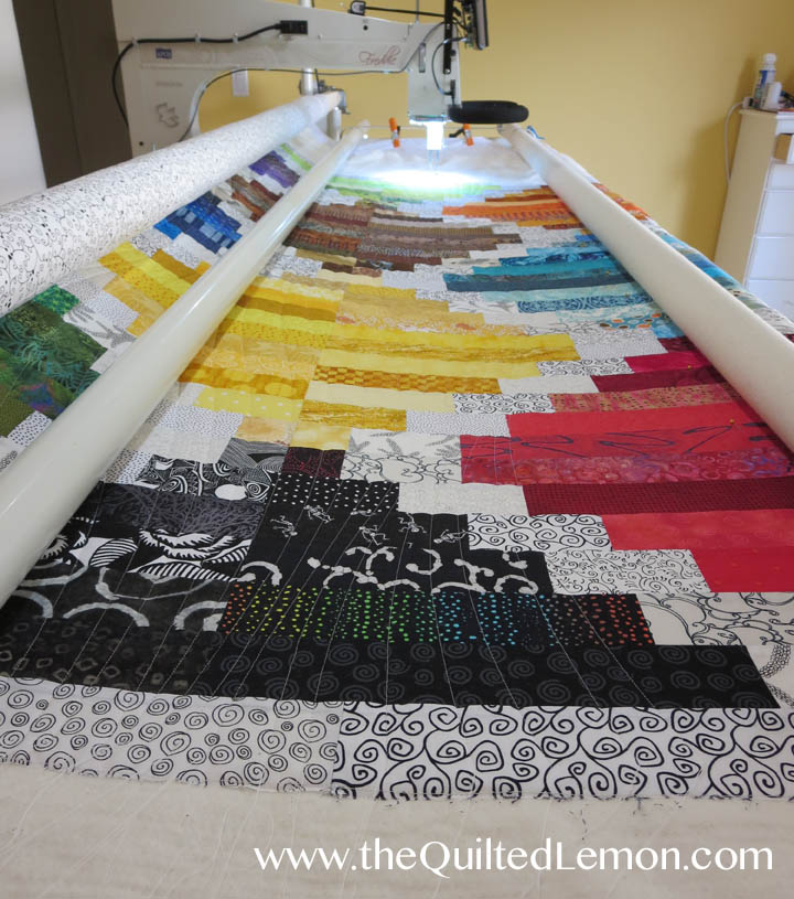 Kathleen quilt Soul Searching on the frame