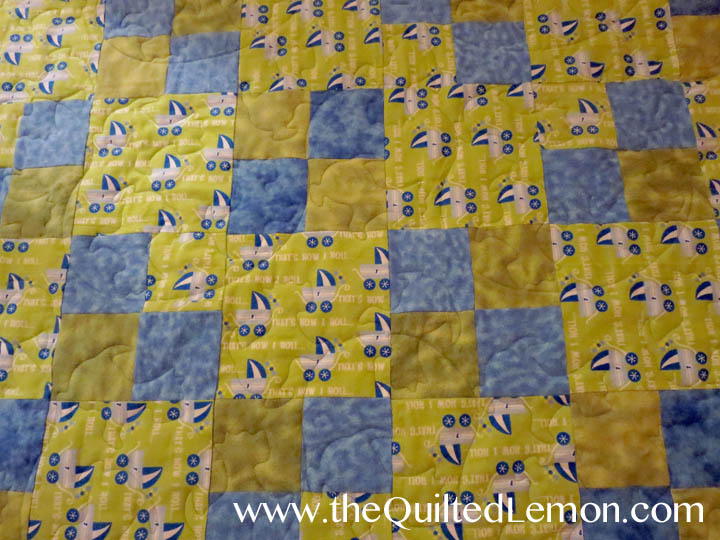 1Jack Panto charity baby quilt
