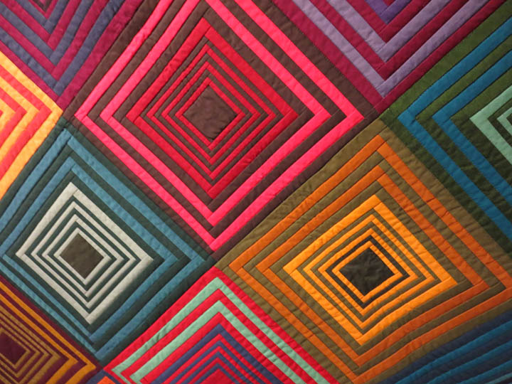 Detail of House Top Quilt by Tara Faughnan