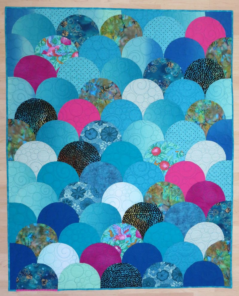 Glam Clam finished quilt