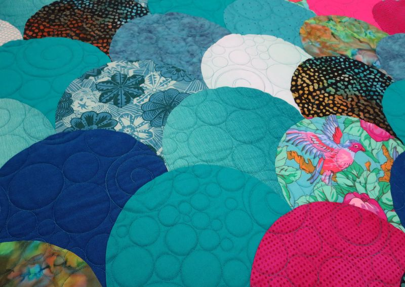 Glam Clam quilting detail