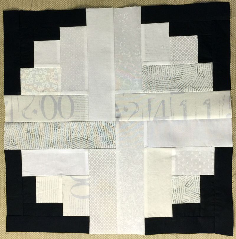 River Log Cabin Quilt Block