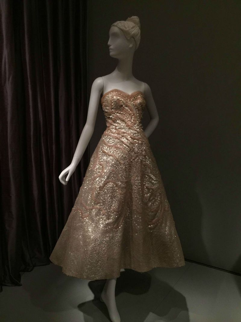 Christian Dior sequin evening dress