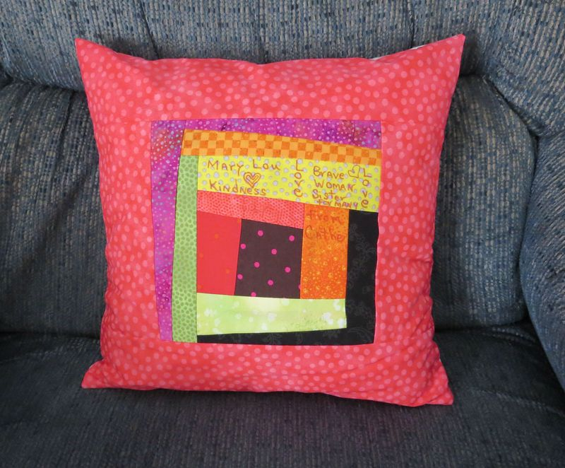 Mary Lous pillow front