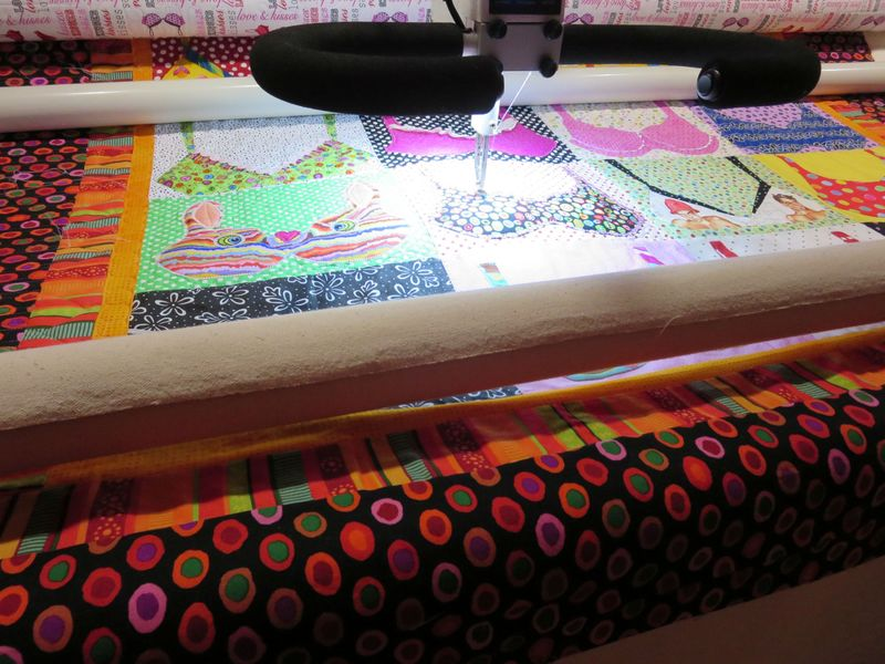 Bra Quilt being quilted